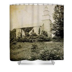 Old Stone Church In Rhinebeck Shower Curtain