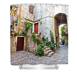 Old Stone Street Of Trogir Shower Curtain