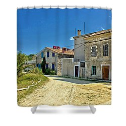 Old Streets Of Susak Island Shower Curtain