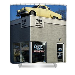 Old Studebaker Building Shower Curtain