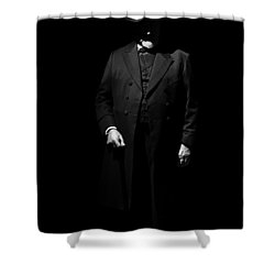 Vintage Gentlemen With Tall Hat - Style Has Not Deadline Shower Curtain