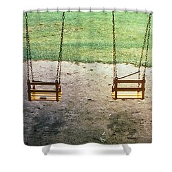 Old Swings In Brookdale Park Shower Curtain