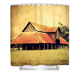 Old Texas Barn Shower Curtain