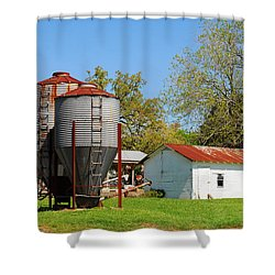 Old Texas Farm Shower Curtain