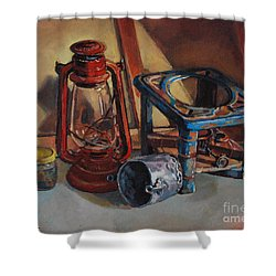 Old Things Shower Curtain by Mohamed Fadul