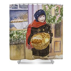 Old Time Christmas Shower Curtain by Carol Flagg