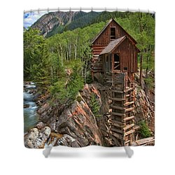 Old Time Colorado Shower Curtain by Adam Jewell