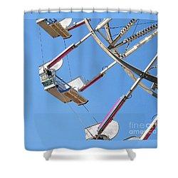 Old Time Ferris Wheel Shower Curtain by Ann Horn