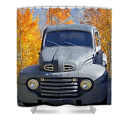 Old Time Fun Shower Curtain by Fiona Kennard