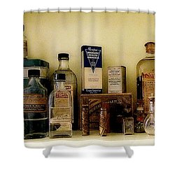 Old-time Remedies Shower Curtain by RC deWinter