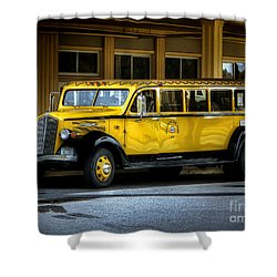 Old Time Yellowstone Bus II Shower Curtain