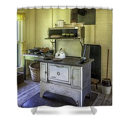 Old Timey Stove Shower Curtain by Lynn Palmer