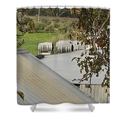 Old Tin Roof  Shower Curtain
