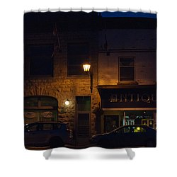 Old Town At Night Shower Curtain by Cheryl Baxter