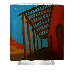 Shower Curtain featuring the painting Old Town by Keith Thue