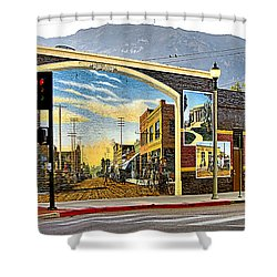 Old Town Mural Shower Curtain