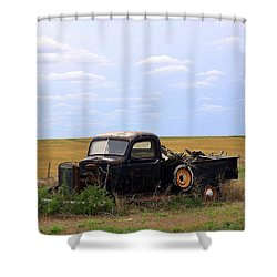 Old Truck  Shower Curtain by Clarice  Lakota