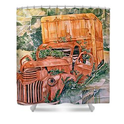 Old Truck Shower Curtain by Lance Wurst