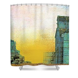 Old Used Grain Elevator Shower Curtain