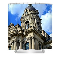 Old Vanderburgh County Courthouse Shower Curtain by Deena Stoddard