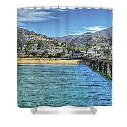 Old Ventura City From The Pier Shower Curtain