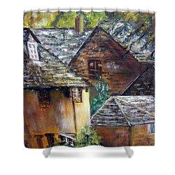 Old Village Shower Curtain