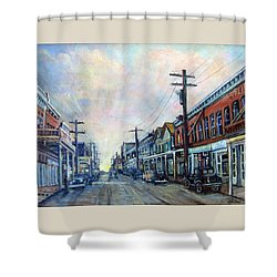 Old Virginia City Shower Curtain by Donna Tucker