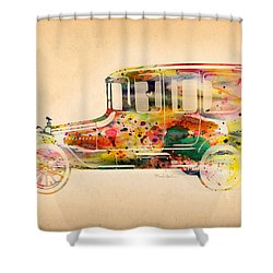 Old Volkswagen3 Shower Curtain by Mark Ashkenazi