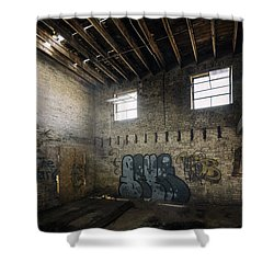 Old Warehouse Interior Shower Curtain