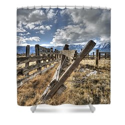 Old Washoe Corral Shower Curtain by Dianne Phelps
