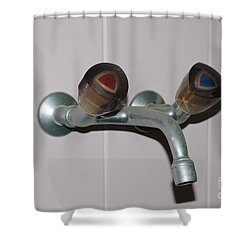 Old Water Tap Shower Curtain by Mats Silvan