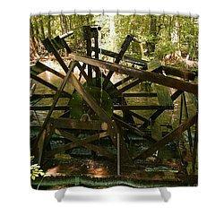 Old Waterwheel Shower Curtain