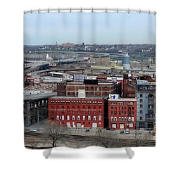 Old West Bottoms Kcmo Shower Curtain by Liane Wright
