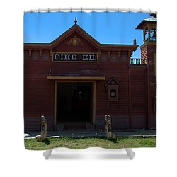Old West Fire Station Shower Curtain