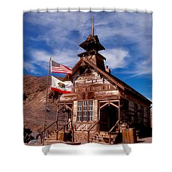 Old West School Days Shower Curtain