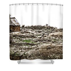 Old West School  Shower Curtain by Steve McKinzie