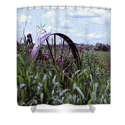 Old Wheel  Shower Curtain