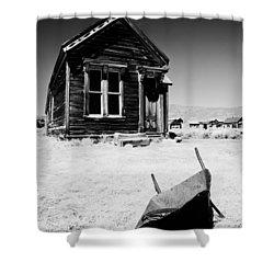 Old Wheelbarrow Shower Curtain by Cat Connor