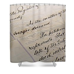 Old Will Shower Curtain by Traci Law