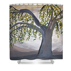Old Willow Shower Curtain by Cathy Anderson