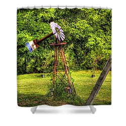 Old Windmill Shower Curtain by Jonny D