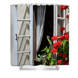 Shower Curtain featuring the photograph Old Window by Debby Pueschel