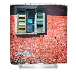 Shower Curtain featuring the photograph Old Window With Reflection by Silvia Ganora