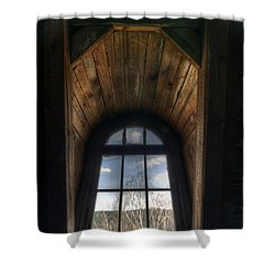 Old Wooden Window Shower Curtain by Nathan Wright