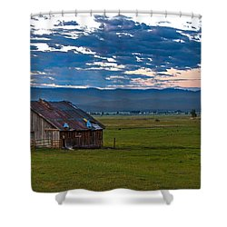 Old Working Barn Shower Curtain by Robert Bales