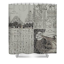Old World New World Shower Curtain