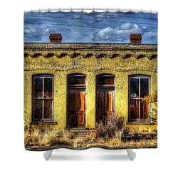 Old Yellow House In Buena Vista Shower Curtain