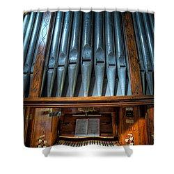 Olde Church Organ Shower Curtain by Adrian Evans