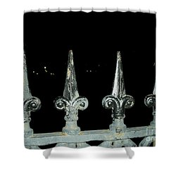 Shower Curtain featuring the photograph Olde Fence by Joseph Baril