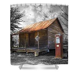 Olden Days Shower Curtain by Debra and Dave Vanderlaan